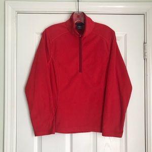 Red Quarter Zip Pullover